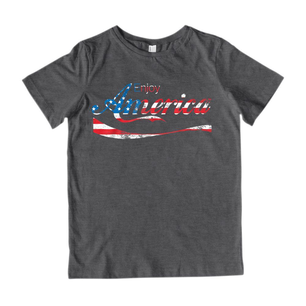 Enjoy America Refreshing Drink Patriotic Graphic T-Shirt Graphic T-Shirt Tee BOXELS