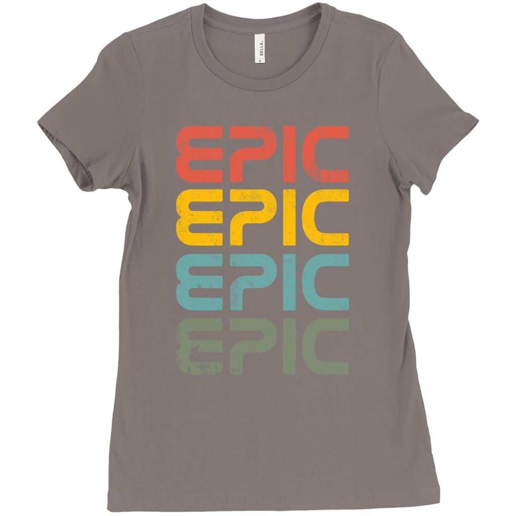 EPIC, Outdoors, retro vintage, Womens Bella Canvas T-Shirts Graphic T-Shirt Tee BOXELS