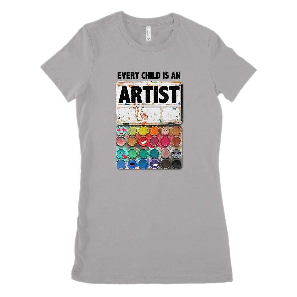 Every Child is An Artist Paint Set Art Teacher (Women's BC 6004 Soft Tee)