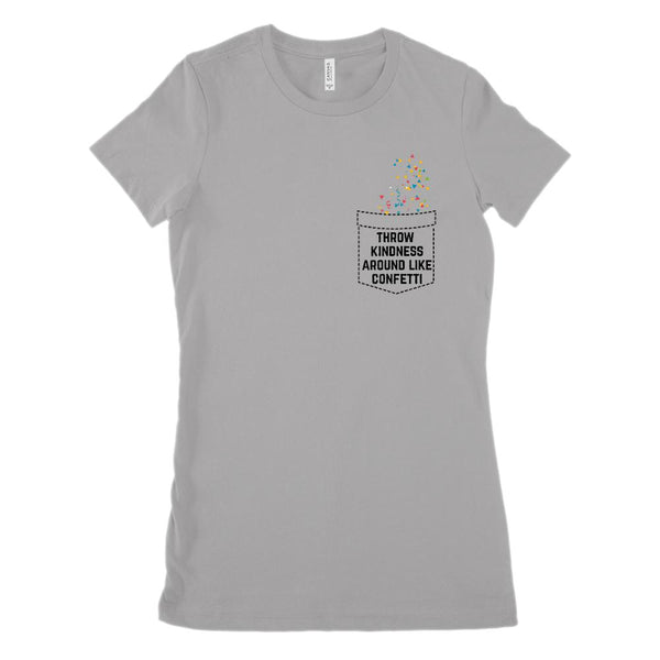 Fake Pocket Kindness Confetti (Women's BC 6004 Soft Tee) Graphic T-Shirt Tee BOXELS