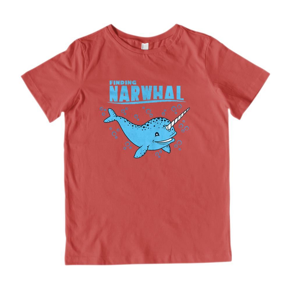 Finding Narwhal Funny Movie Parody Graphic Kid's T-shirt Graphic T-Shirt Tee BOXELS