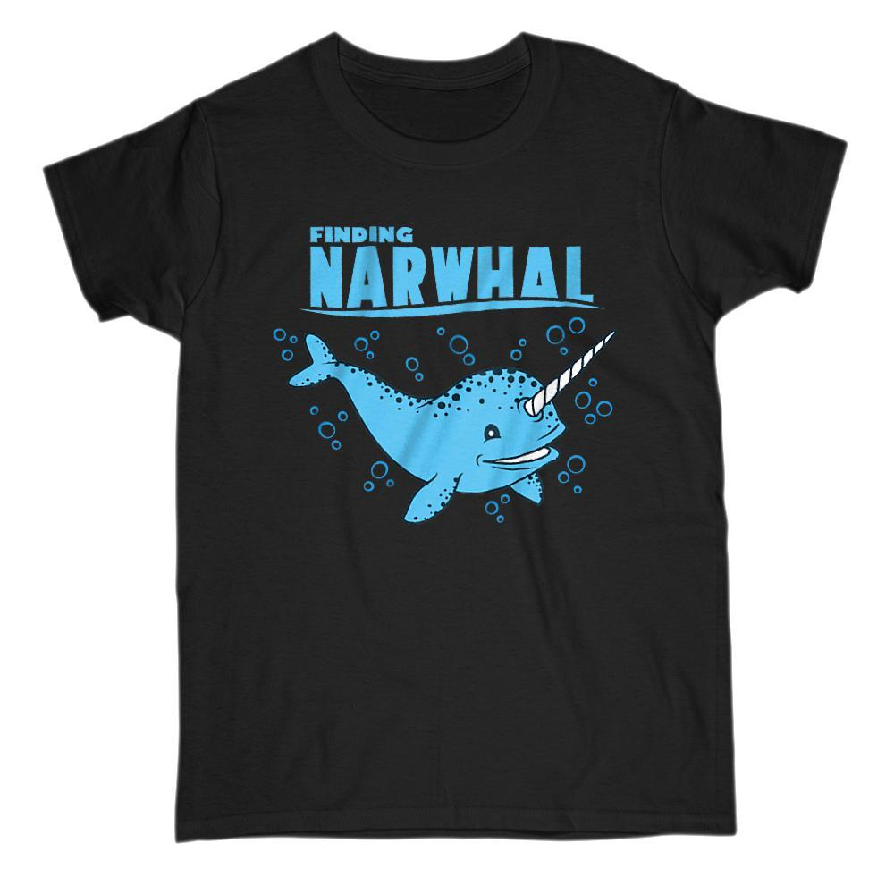 Finding Narwhal Funny Movie Parody Graphic T-shirt Graphic T-Shirt Tee BOXELS