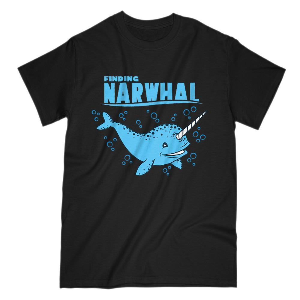 Finding Narwhal Funny Movie Parody Graphic T-shirt