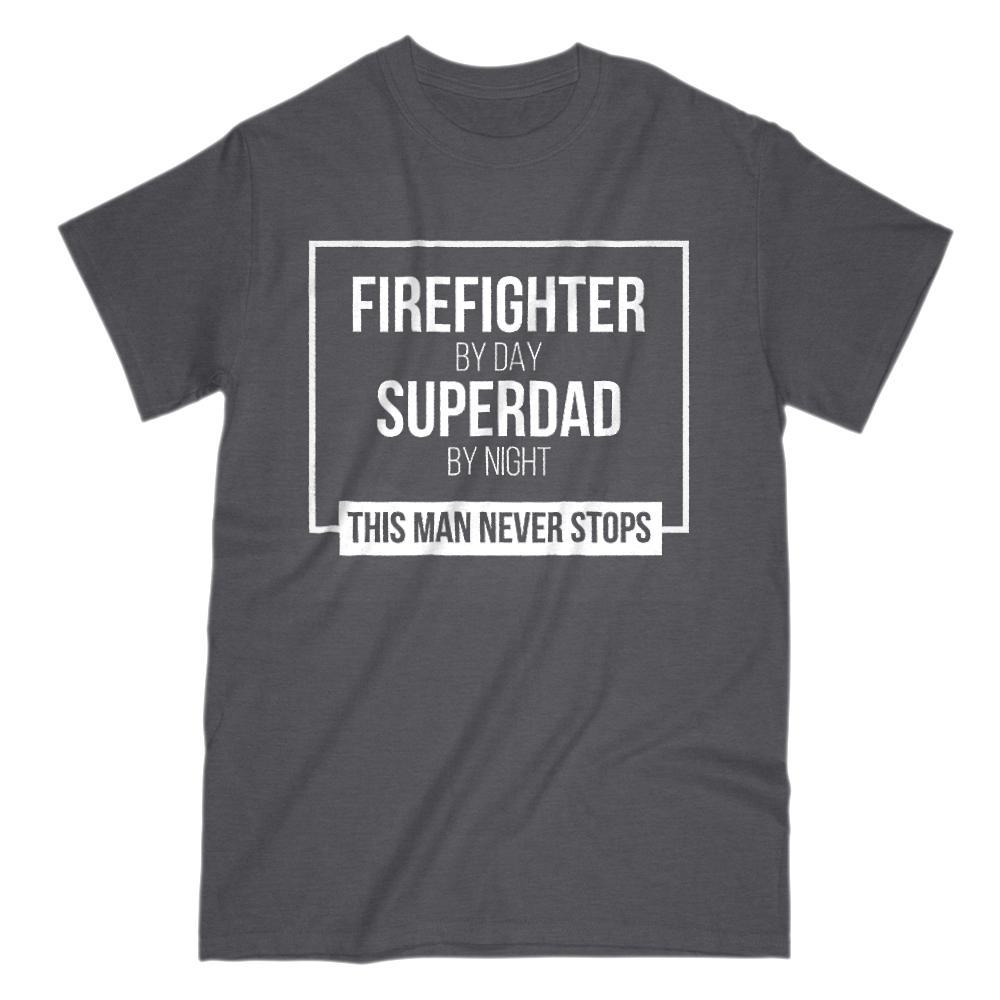 Firefighter by Day, Superdad by Night Graphic T-Shirt Graphic T-Shirt Tee BOXELS