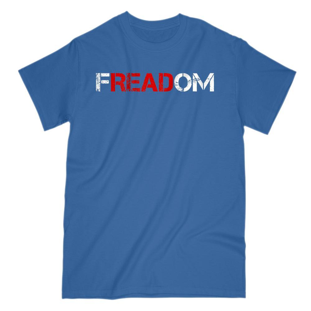 Freadom (freedom) Reading is Freedom of the Mind Patriotic T-shirt Graphic T-Shirt Tee BOXELS