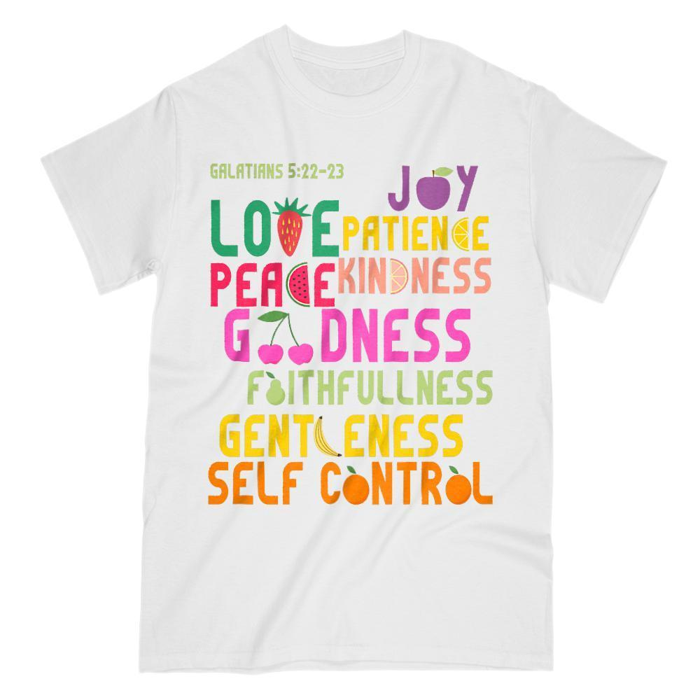 Fruits of the Spirit, Christian, Camp, Church T-Shirt Graphic T-Shirt Tee BOXELS
