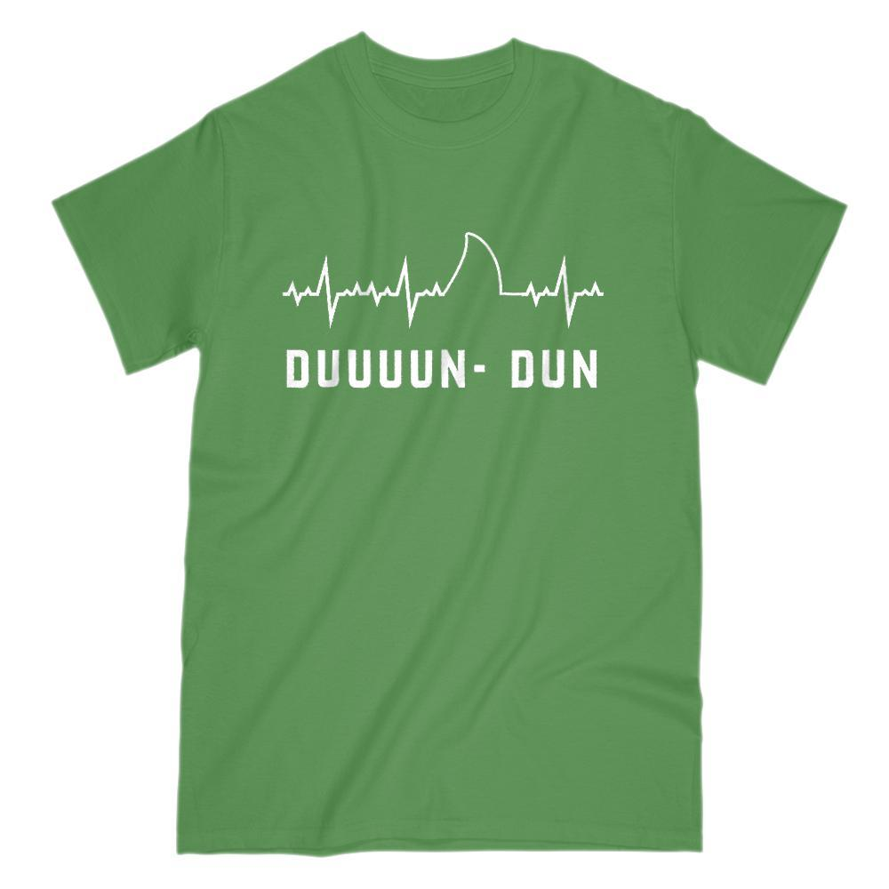 Funny Medical Heart Beat Shark Fin Duuuun Dun Music Tee Graphic T-Shirt Tee BOXELS
