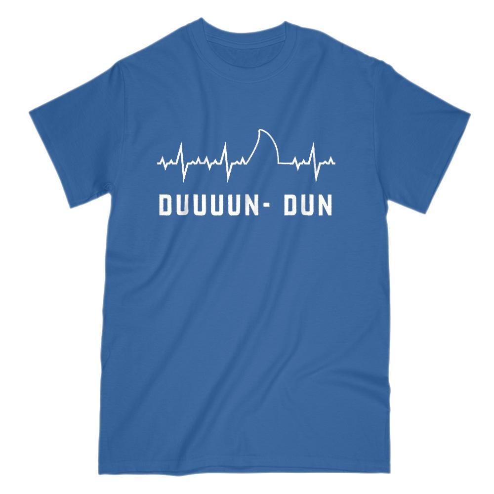 Funny Medical Heart Beat Shark Fin Duuuun Dun Music Tee