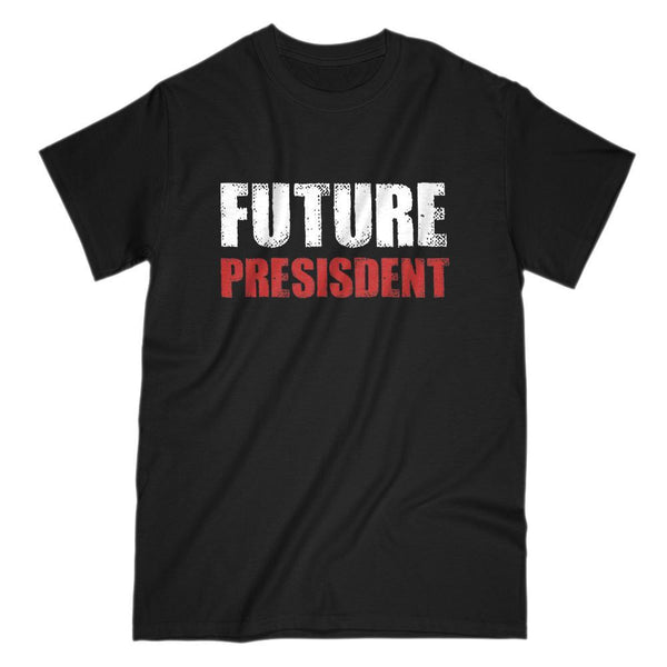 Future President Patriotic Grunge (misspelled) T-Shirt Graphic T-Shirt Tee BOXELS