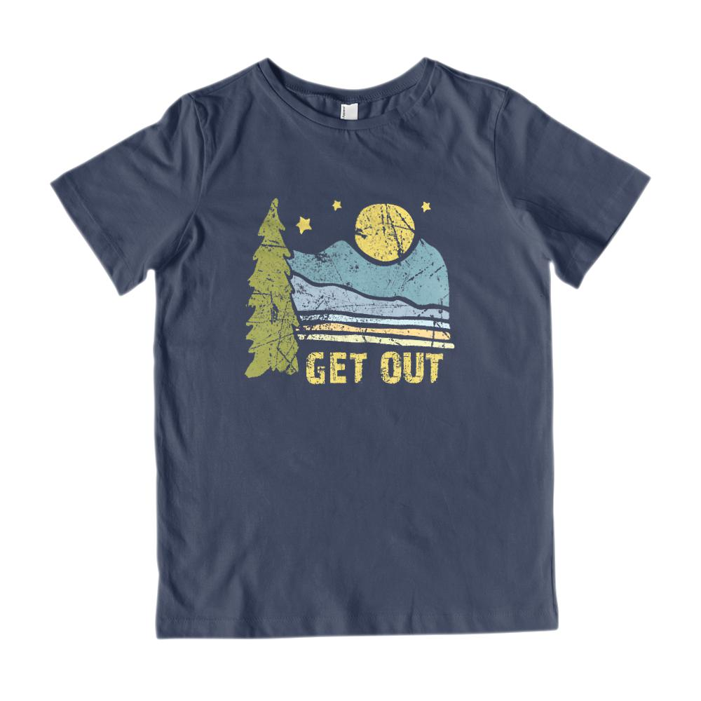 Get Out Outdoors Mountains Graphic Tee (kids) Graphic T-Shirt Tee BOXELS