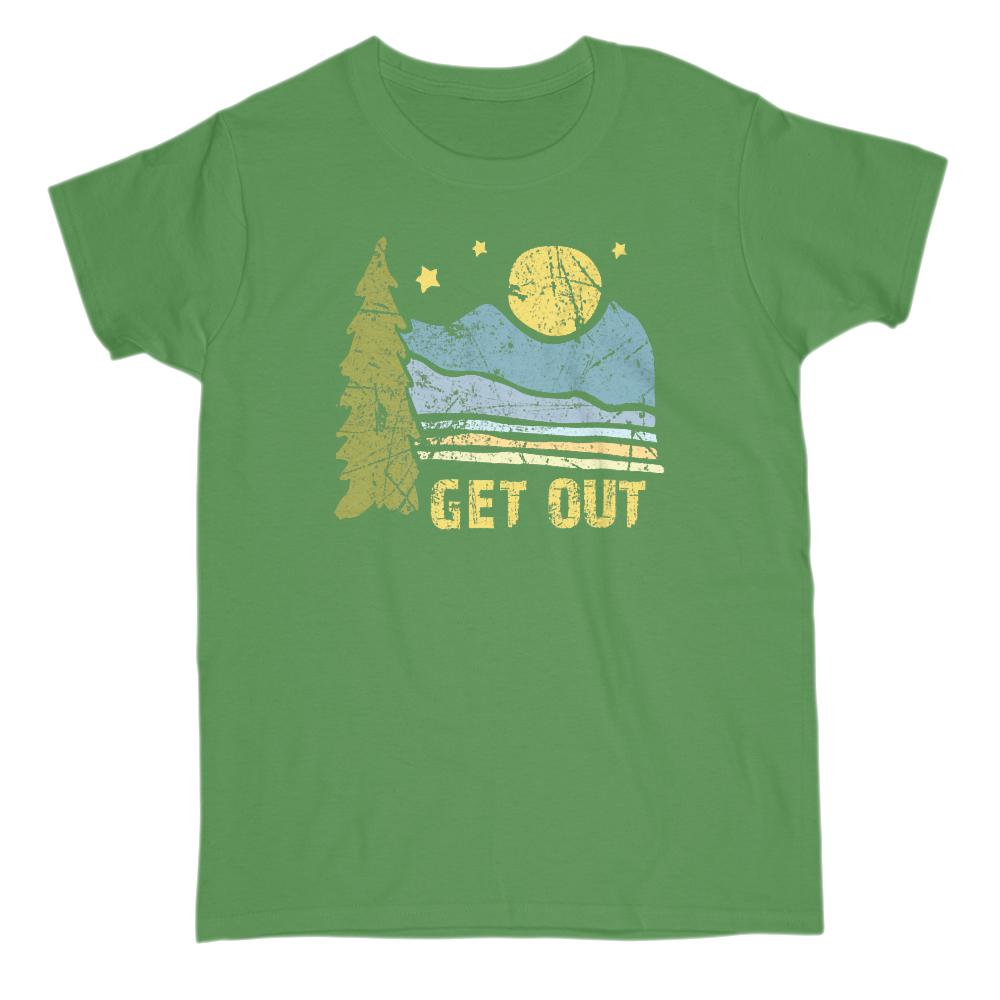 Get Out Outdoors Mountains Graphic Tee (women) Graphic T-Shirt Tee BOXELS