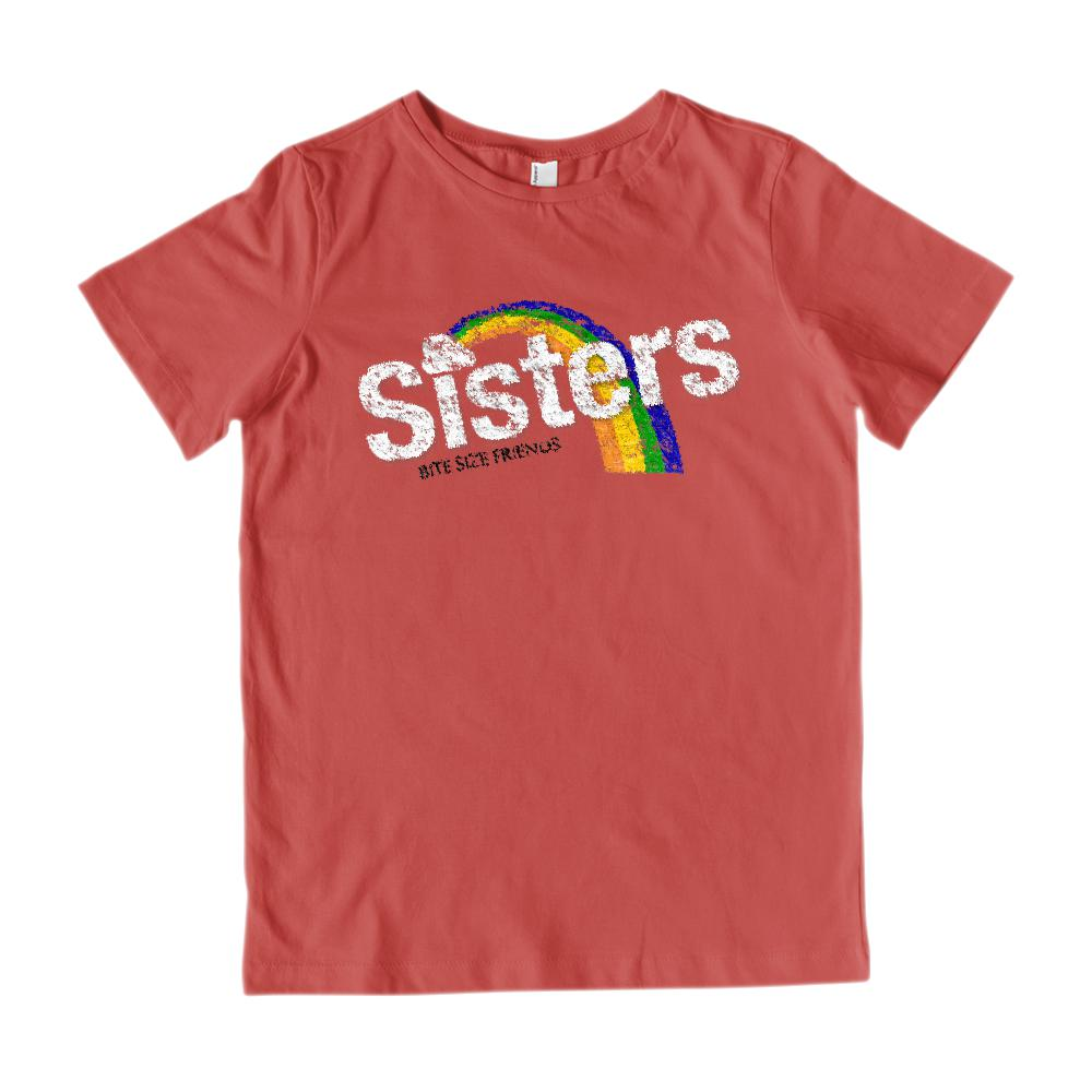 (Gildan Kid's Cotton Tee) Sisters Bite Size Friends Candy