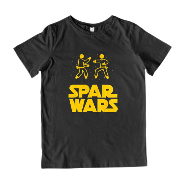 (Gildan Kid's Cotton Tee) Spar Wars Fighting Parody Karate Martial Arts Space Graphic T-Shirt Tee BOXELS