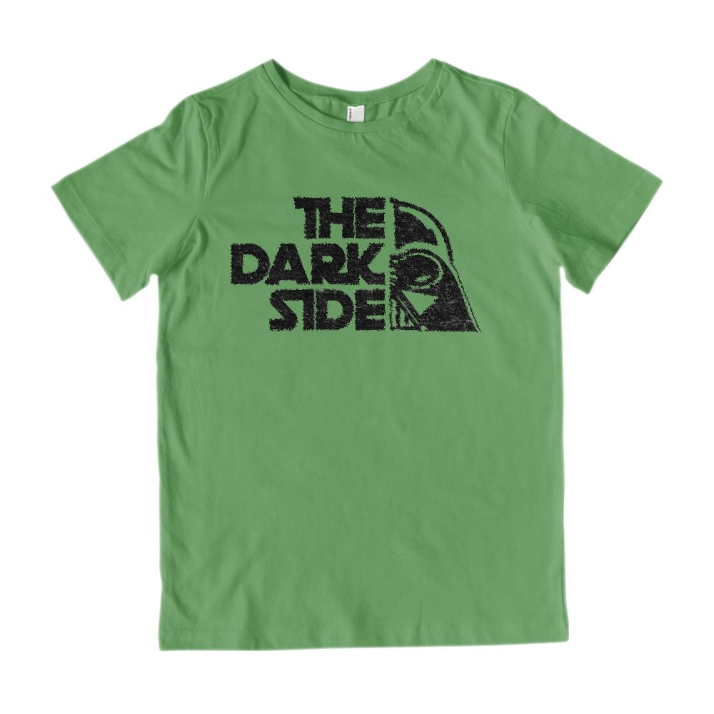 (Gildan Kid's Cotton Tee) The Dark Side Parody Mask Graphic T-Shirt Tee BOXELS