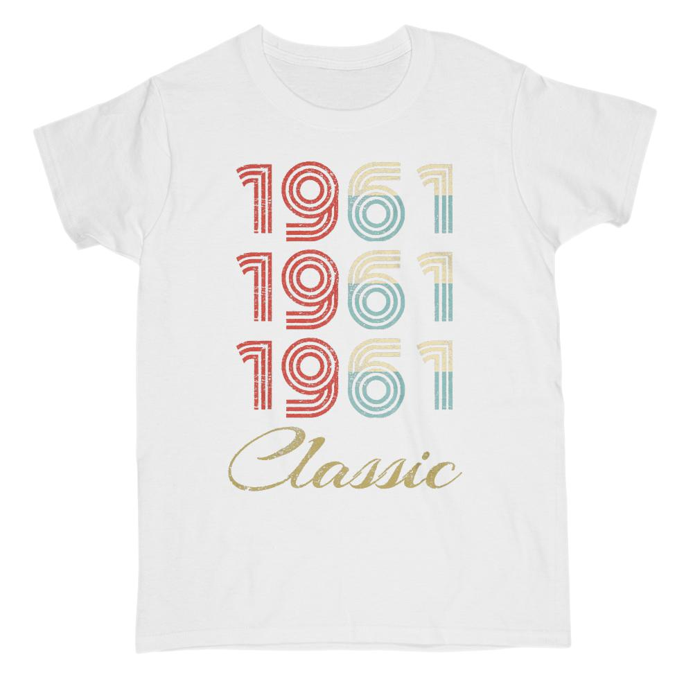 (Gildan Women's Cotton Tee) 3 Year Classic 1961 - Made in the Year Graphic T-Shirt Tee BOXELS