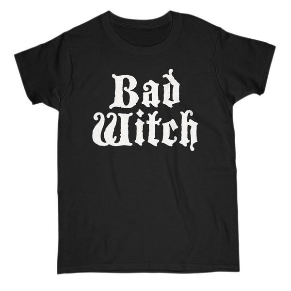 (Gildan Women's Cotton Tee) Good Witch, Bad Witch (matching set) | Bad Witch | White Font Graphic T-Shirt Tee BOXELS