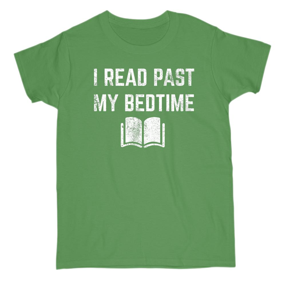 (Gildan Women's Cotton Tee) I Read Past My Bedtime Reader Graphic T-Shirt Tee BOXELS