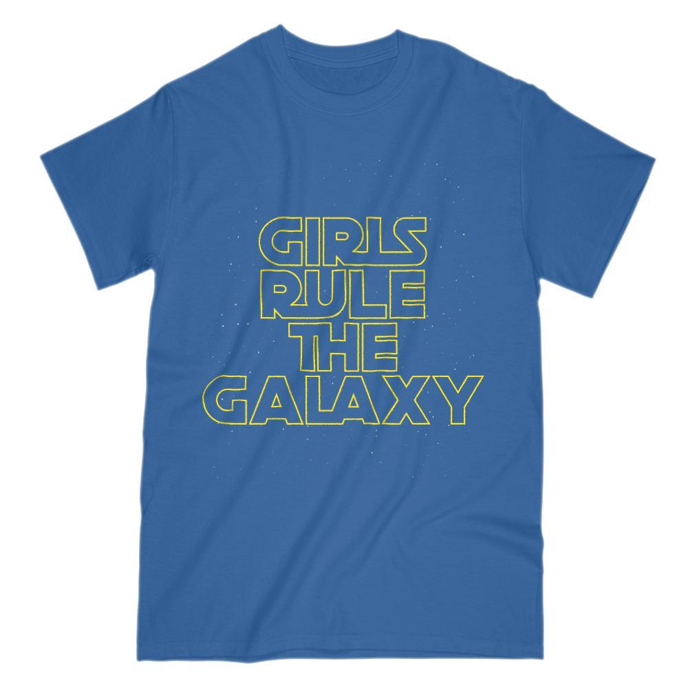Girls Rule The Galaxy Parody Space Wars Star Graphic Tee Graphic T-Shirt Tee BOXELS