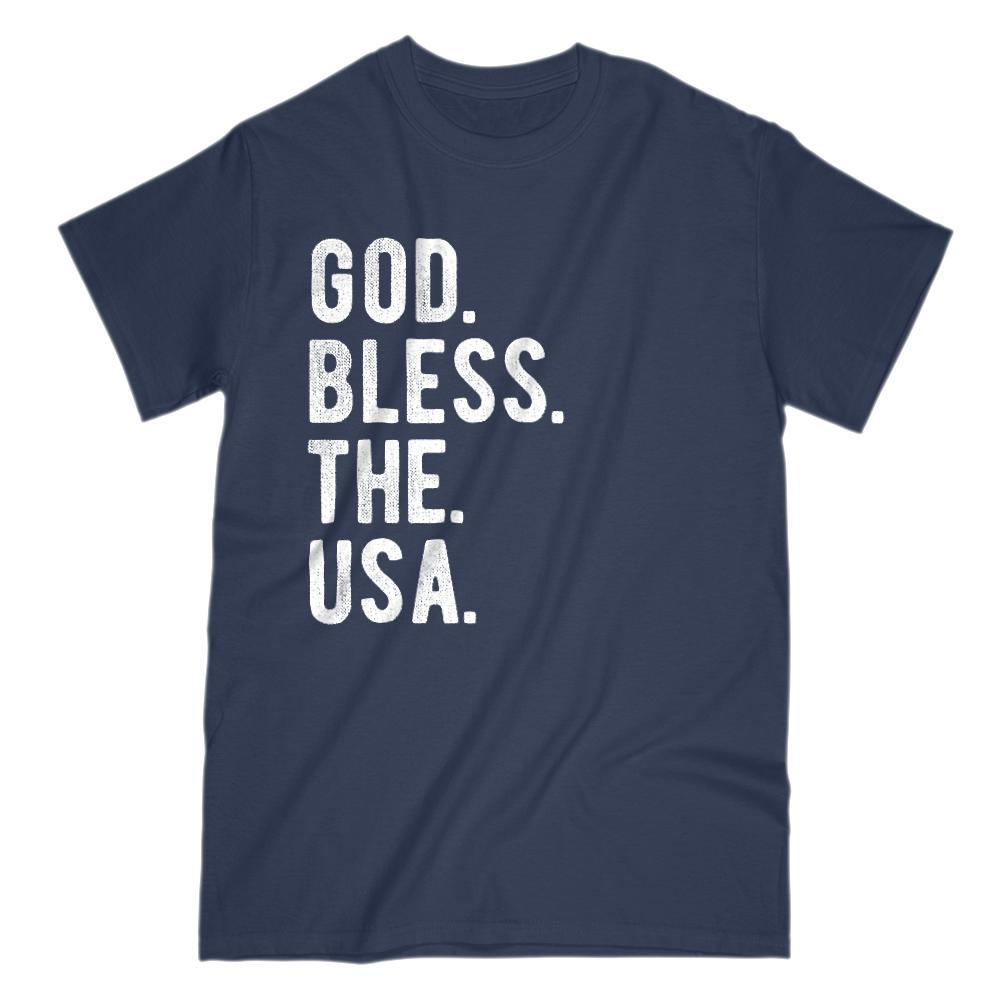 God. Bless. The. USA. Patriotic Saying T-Shirt Graphic T-Shirt Tee BOXELS