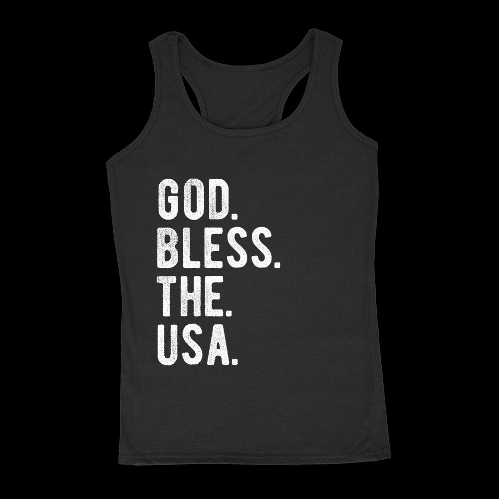 God. Bless. The. USA. Women's Tank Patriotic