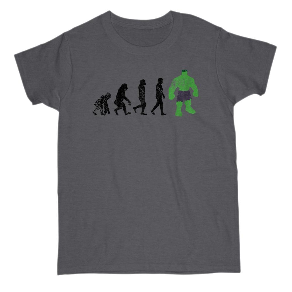 Green Monster Evolution Parody (adults) Graphic T-Shirt Tee BOXELS