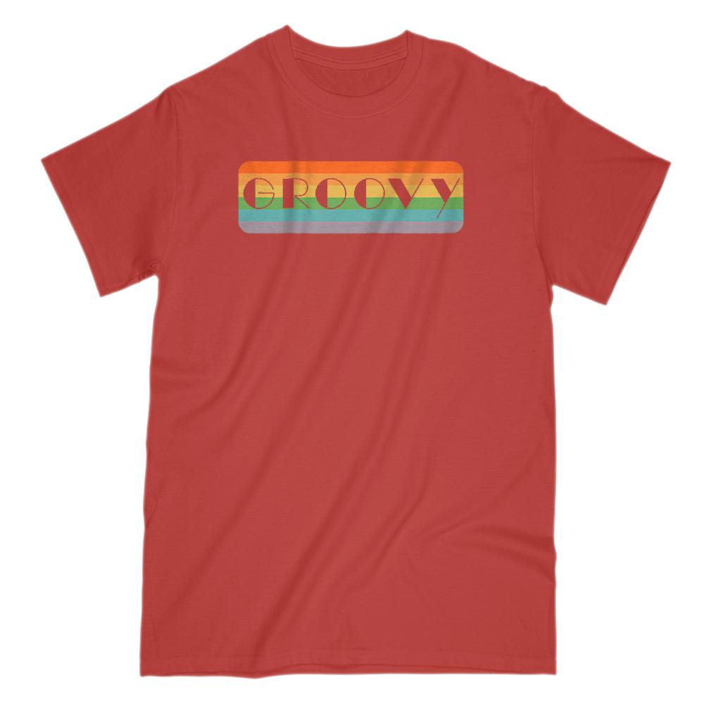 Groovy Retro Rainbow Saying Graphic T-Shirt Tee BOXELS
