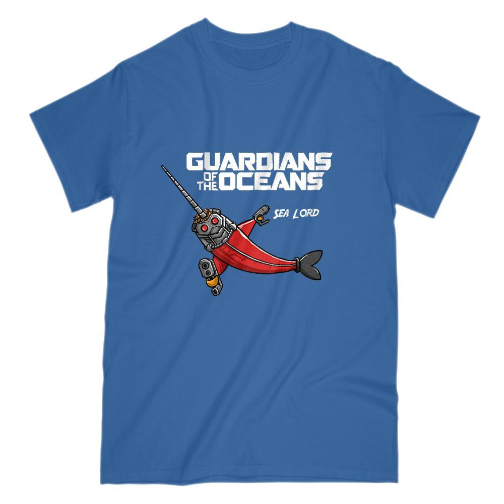 Guardians of the Oceans Sea Lord Movie Parody Graphic Tee Graphic T-Shirt Tee BOXELS