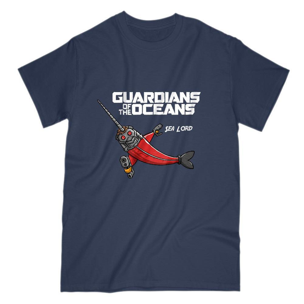 Guardians of the Oceans Sea Lord Movie Parody Graphic Tee