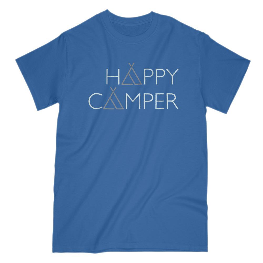 Happy Camper Tent A Outdoors Camping Graphic T-shirt Graphic T-Shirt Tee BOXELS