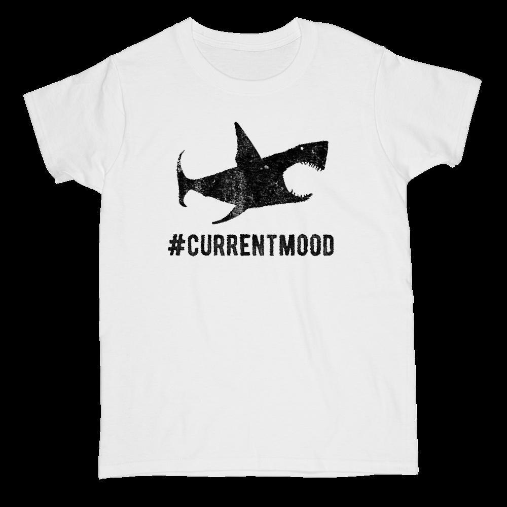 Hashtag Current Mood Shark Graphic T-Shirt Tee BOXELS