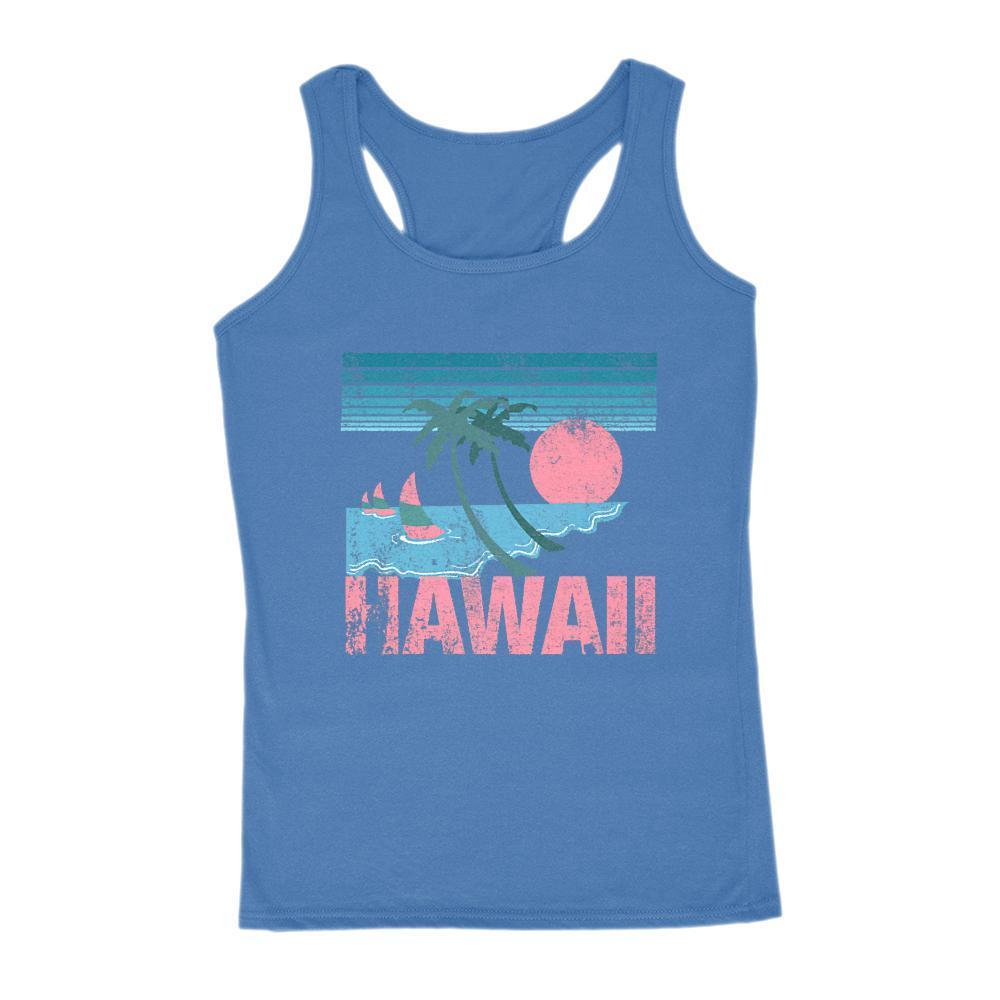 Hawaii Pink and teal Sunset Beach Women's Graphic Tank