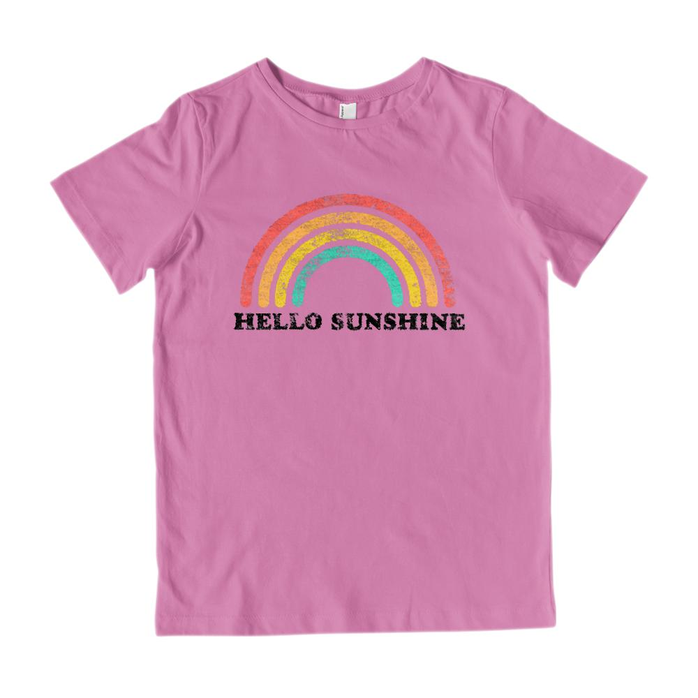 Hello Sunshine (Kids) Rainbow Vintage Graphic Tee Graphic T-Shirt Tee BOXELS