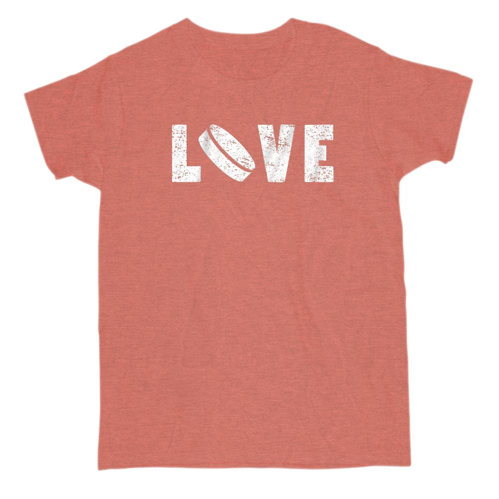 Hockey Love Grunge Graphic Puck T-Shirt Graphic T-Shirt Tee BOXELS