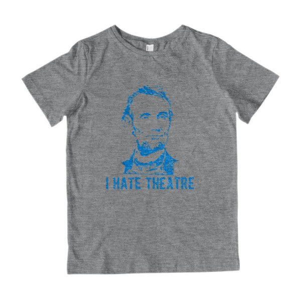 I Hate Theatre Blue Kids Patriotic T-Shirt Graphic T-Shirt Tee BOXELS