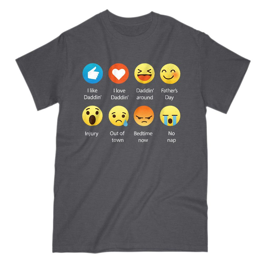 I Like, I Love, Being a Dad (Father, Daddy) Emoji (Emoticon) T-shirt Graphic T-Shirt Tee BOXELS