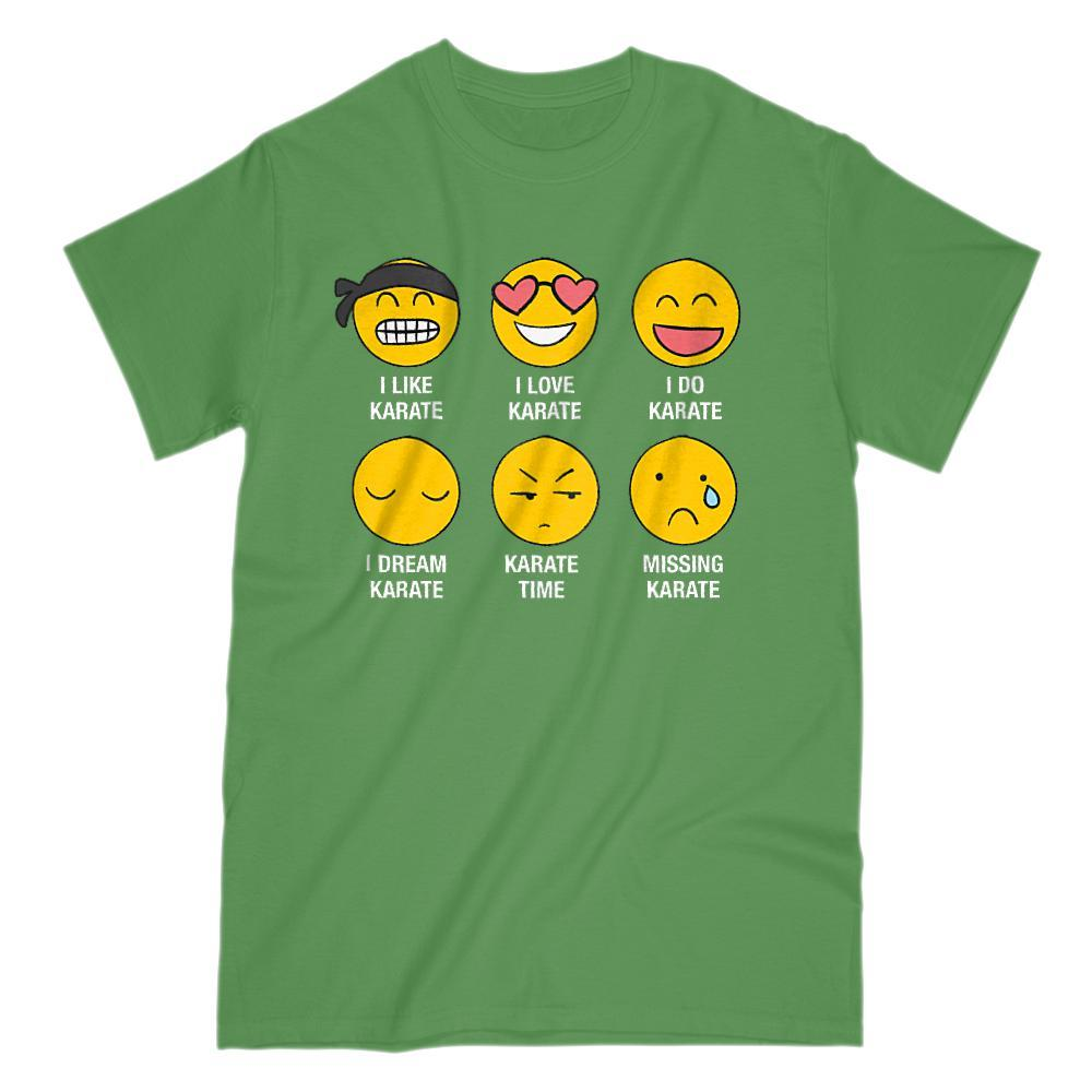 I Love, I Like Karate Emoji (emoticon) Funny Sayings Graphic T-Shirt Tee BOXELS