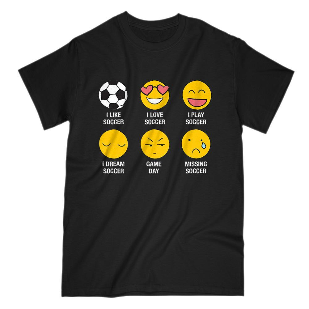 I Love, I Like Soccer (Fútbol) Emoji Emoticon Funny Sayings