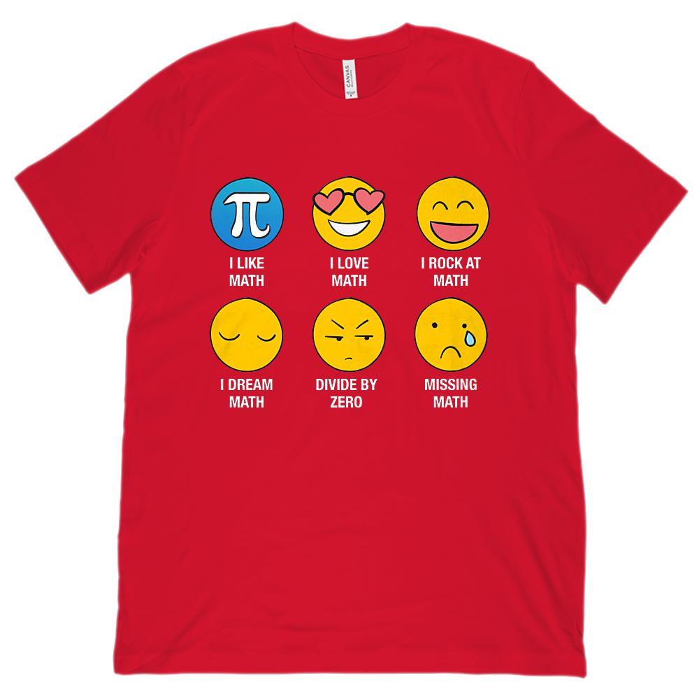 I Love Like Math Emoji Emoticon Whiz (Unisex BC 3001 Soft Tee) Graphic T-Shirt Tee BOXELS