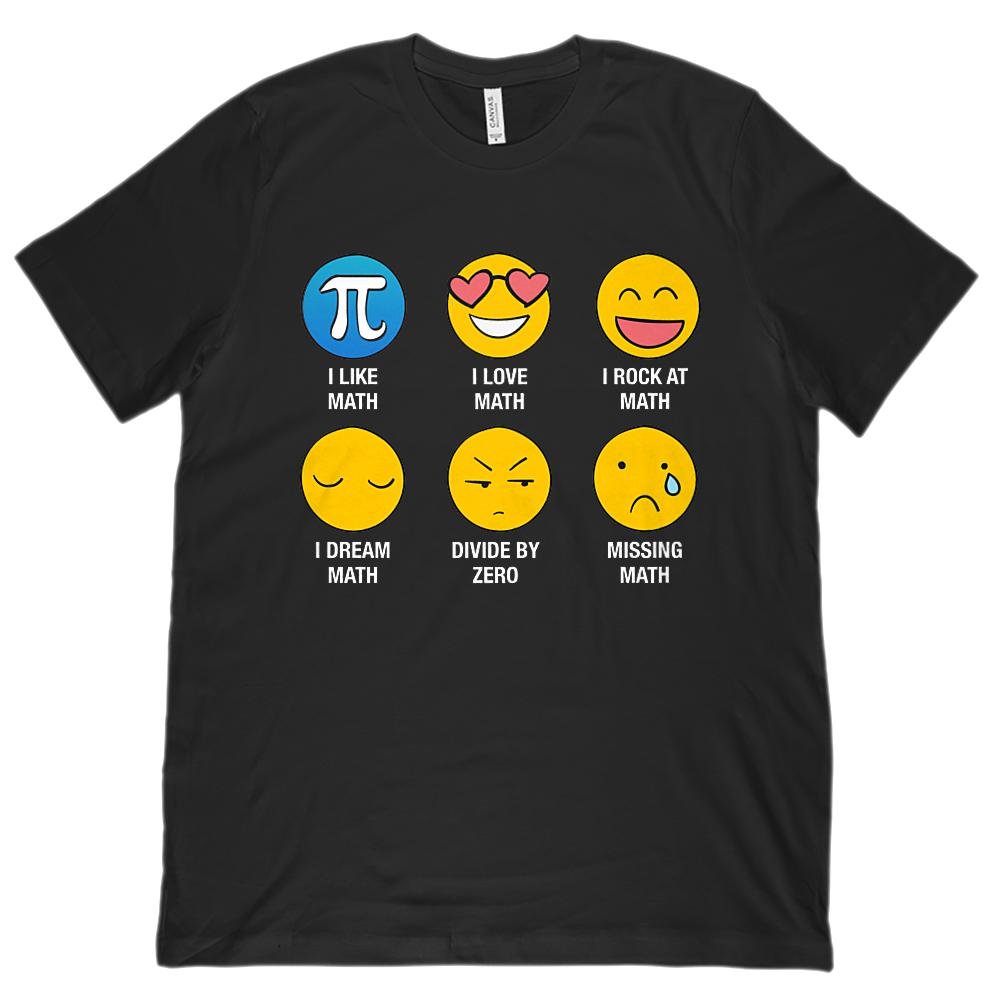 I Love Like Math Emoji Emoticon Whiz (Unisex BC 3001 Soft Tee)