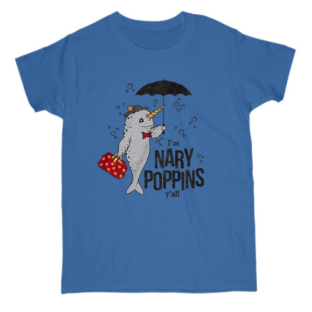 I'm Nary Poppins Narwhal Funny Movie Parody Graphic T-Shirt Graphic T-Shirt Tee BOXELS