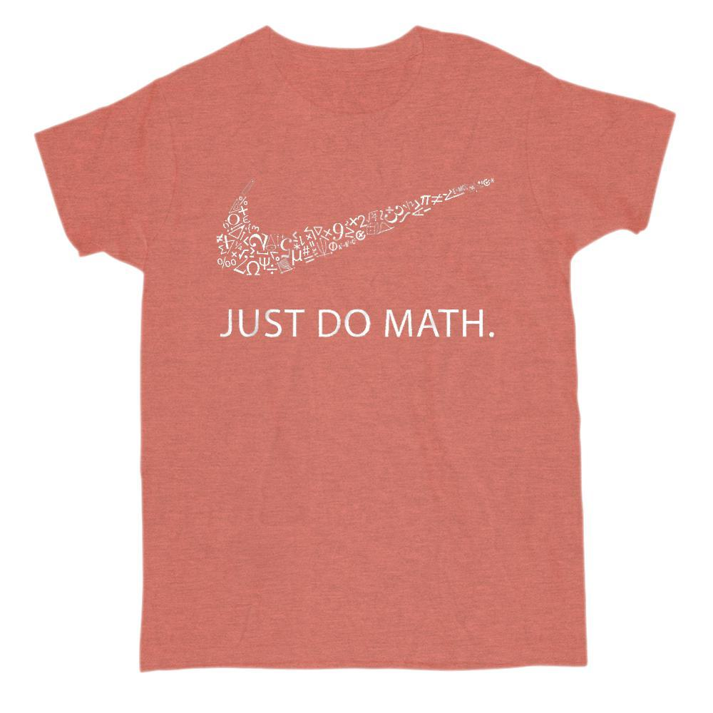 Just Do Math Cool Swoosh Parody T-Shirt (Gildan, men, women) Graphic T-Shirt Tee BOXELS