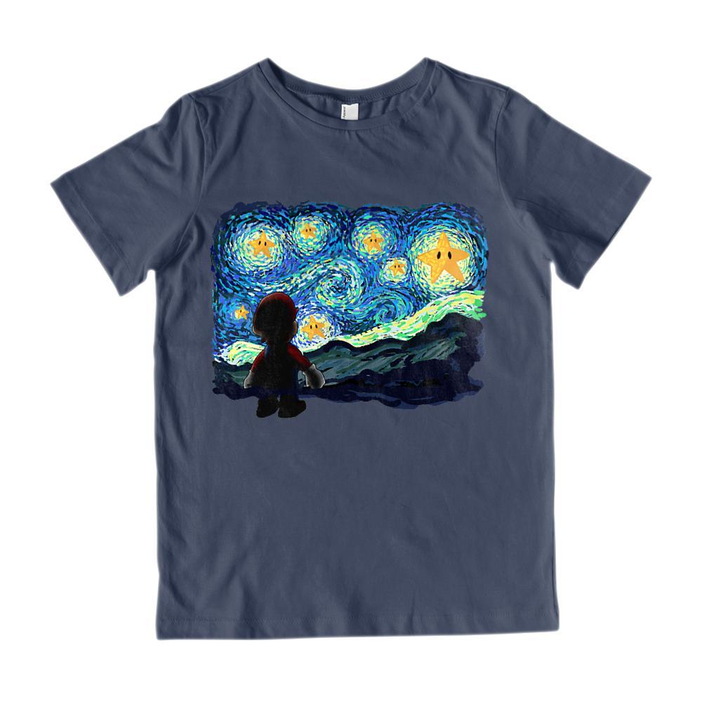 Kids A Starry Night Game Parody Brothers Vincent van Gogh Graphic T-Shirt Tee BOXELS