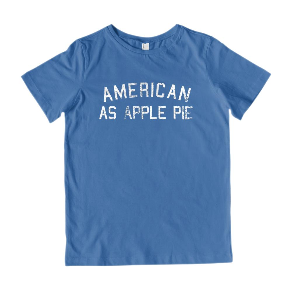 Kids American as Apple Pie Patriotic T-Shirt V2 Graphic T-Shirt Tee BOXELS