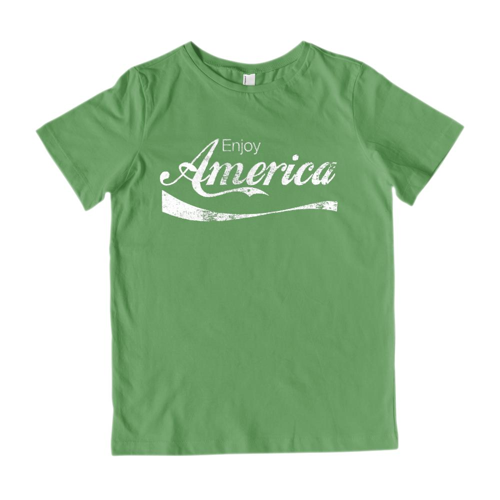 Kids Enjoy America Refreshing Drink Parody V2 Graphic Patriotic T-Shirt Graphic T-Shirt Tee BOXELS