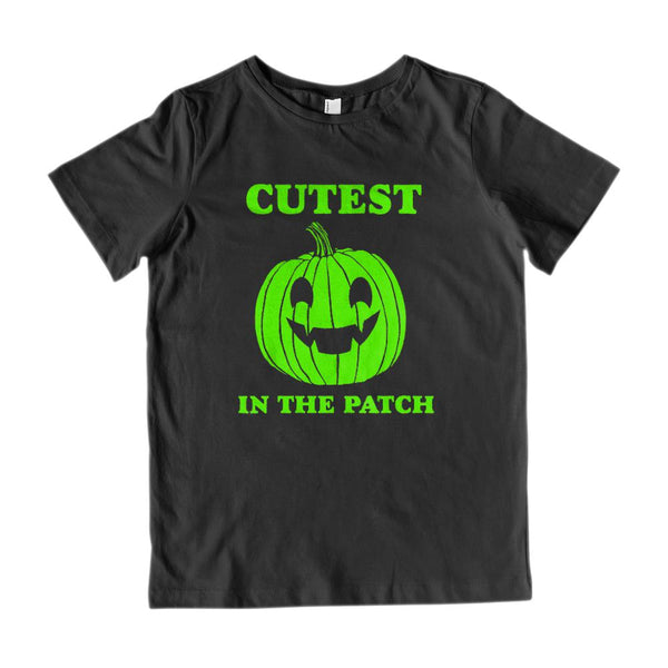 (Kid's Gildan Cotton Tee) CUTEST (pumpkin) IN THE PATCH Graphic T-Shirt Tee BOXELS