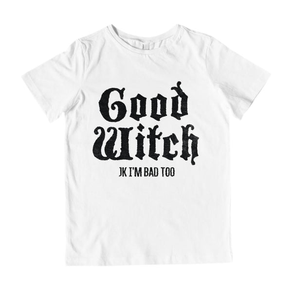 (Kid's Gildan Cotton Tee) Good Witch, Bad Witch (matching set) | Good Witch Graphic T-Shirt Tee BOXELS