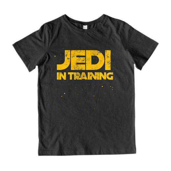 (Kid's Gildan Cotton Tee) JEDI IN TRAINING STAR SPACE WARS Graphic T-Shirt Tee BOXELS