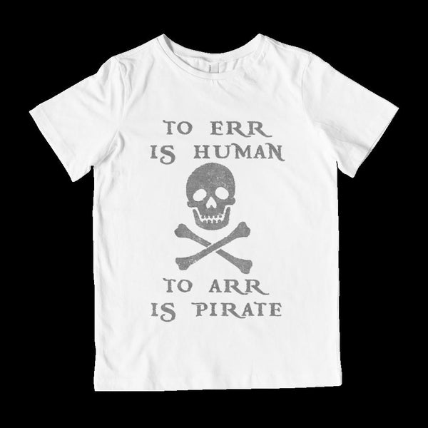 (Kid's Gildan Tee) To Err is Human to Arr is Pirate Graphic T-Shirt Tee BOXELS