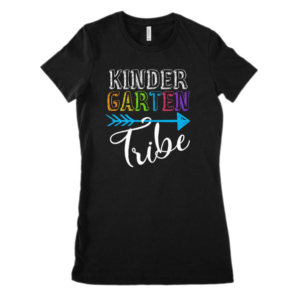 KinderGarten Tribe Teacher Clan (Women's BC 6004 Soft Tee) Graphic T-Shirt Tee BOXELS
