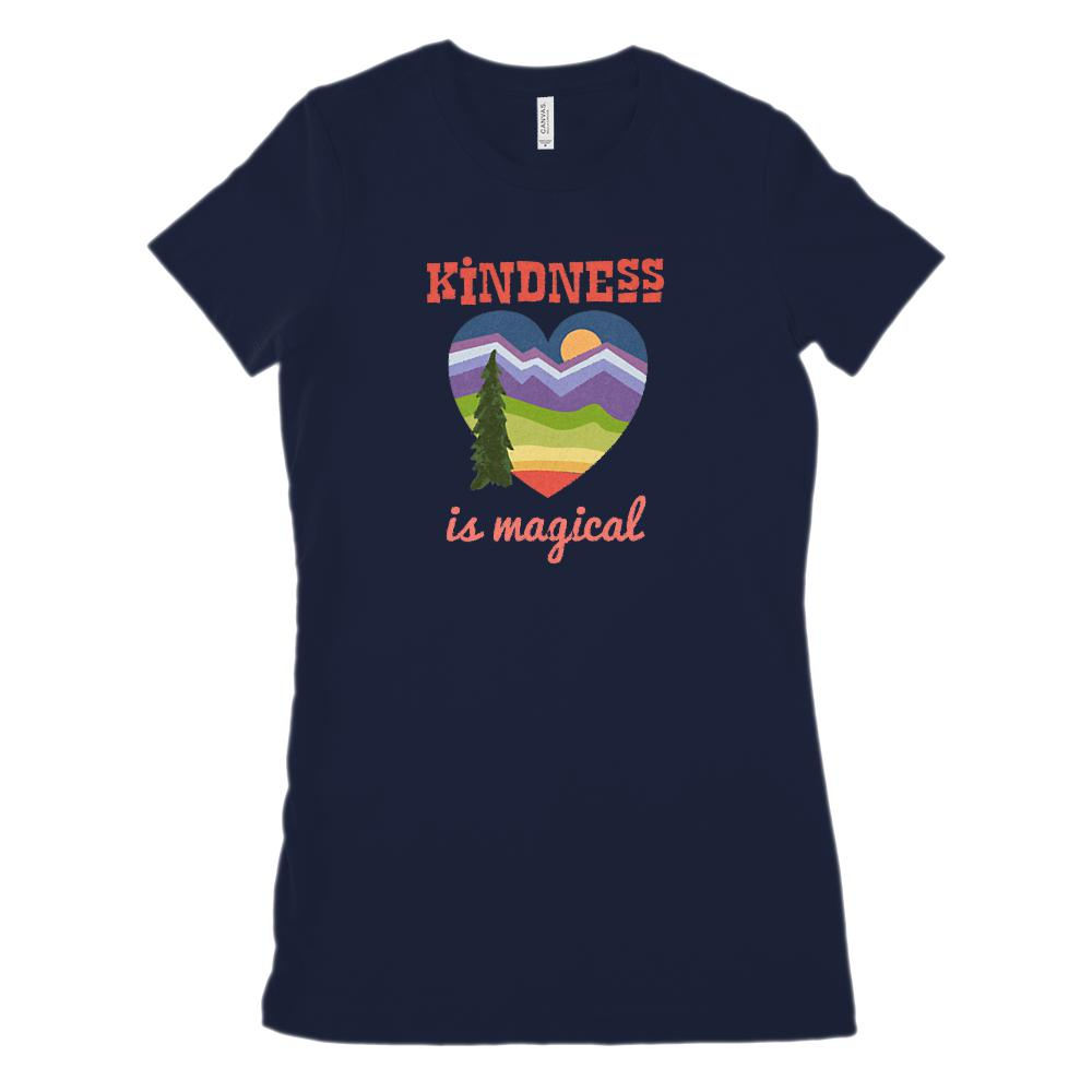 Kindness is Magical Heart Outdoors (Women's BC 6004 Soft Tee)